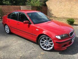 BMW (E46) 330i M-Sport, Saloon, Manual, Imola Red, Black Leather, 79k, 2003