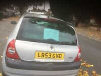 Automatic Silver Renault Clio