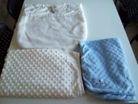3 Baby Blankets Handy Spares