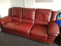 FREE 3 setta electric leather recliner sofa