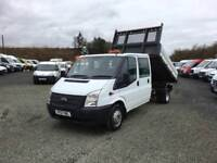 2012 FORD TRANSIT 125 DOUBLECAB TIPPER