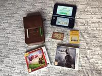 New Nintendo 3DS XL Metalic Blue with 2 Games and Official Travel Case