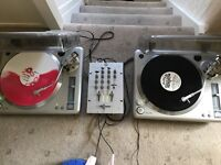 MINISTRY OF SOUND TURNTABLES AND MIXER