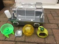 Hamster cage with accessories great first starter cage
