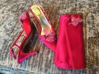 Shoes & clutch bag