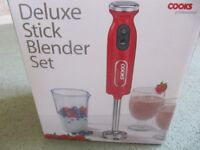 Deluxe Stick Blender Set (Red colour) - Never Been Used
