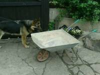 Wheelbarrow galvanised with tubeless wheels solid for garden