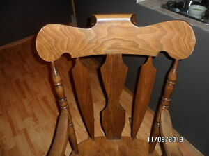 solid wood rocking chair Strathcona County Edmonton Area image 2