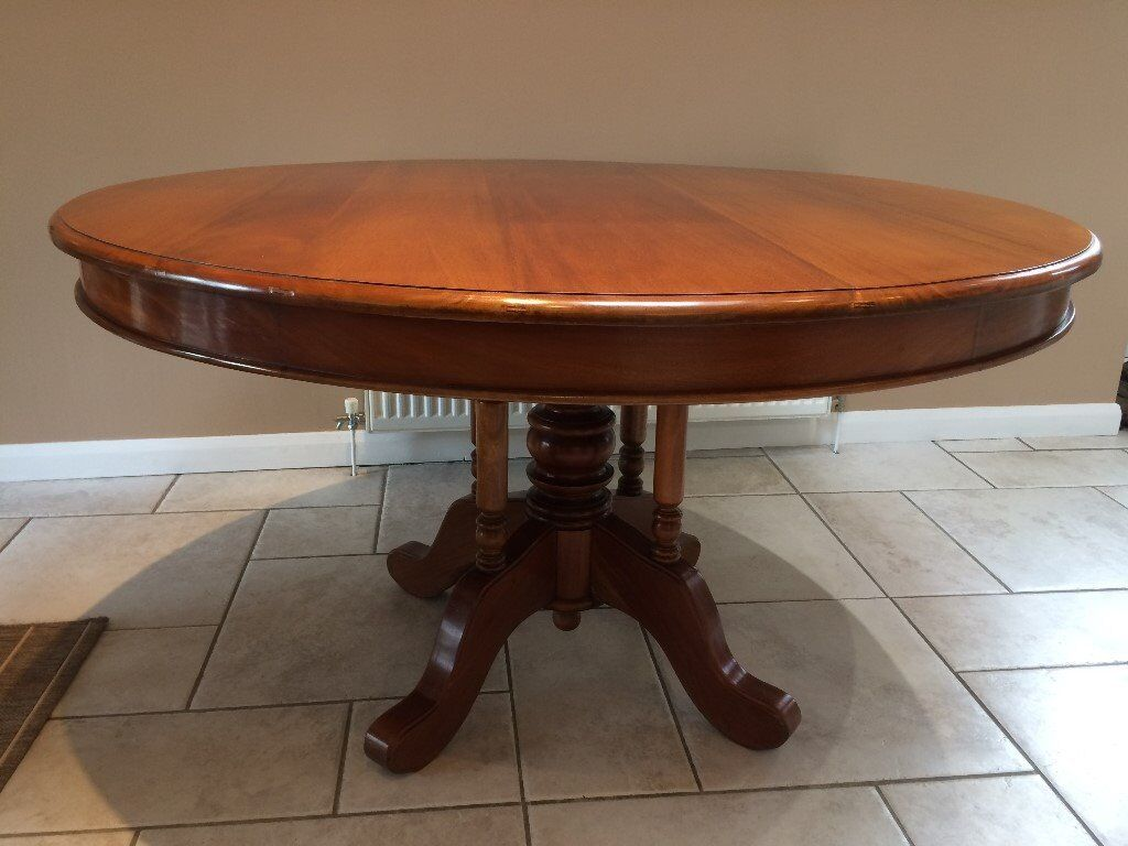 Solid Mahogany Round Dining Table In St Neots Cambridgeshire Gumtree