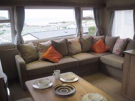 Stunning static caravan for sale, sited with deck & seaviews. 3 years old- bargin! Devon, Beach