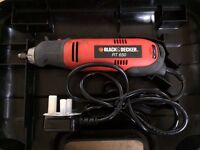 Black & Decker RT650KA rotary power tool with carrying case & accessories