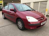 HONDA CIVIC 1.4 SE /1 YEAR FRESH MOT/FULL STAMPED SERVICE HISTORY/GREAT CONDITION/ £750