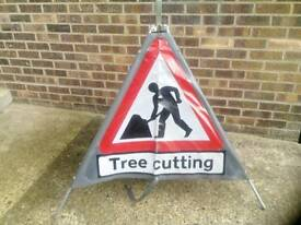 Tree cutting signs