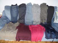 LOT OF 10 MATERNITY CLOTHES - NEXT PETITE trousers & Jeans tops H&M, Mamas & Papas & GAP Cost £200+