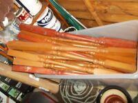 lge wood spindles