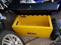 Yellow med metal van vault tool box