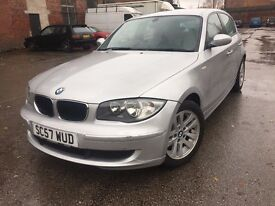 57 Plate - BMW 1 Series - Stop/Start-6 speeds - one year mot -perfect drive