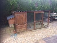 Chicken coup with run hardly been used and in as new condition buyer to collect