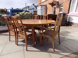 6 Dining Chairs Retro Teak 'NATHAN' 1970's Vintage Selling Chairs ONLY (NO Table)