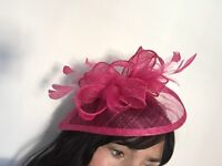 New Boutique Fuschia Pink Fascinator without tags