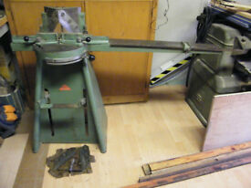 Morso Mitre Machine with extension table and spare set of bladesand tool for changing them. £550