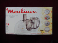 MOULINEX FOOD PROCESSOR + BLENDER NEW IN BOX EXCELLENT XMAS GIFT.