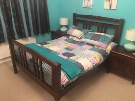 Moroccon Style wooden bedroom furniture VGC