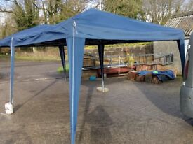 Popup gazebo 6x3 with sides used once