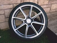 """Fox Racing 18"""" FX2's alloys with 215x35x18 low profile tyres"""