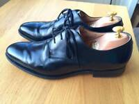 Churches Paris Capital Black leather mens handmade formal shoes, size 9.5F, RRP £310,