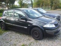 2006 Black Renault Megane Expression 5 door Hatchback 1.5 Diesel Spares/Repair
