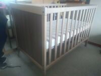 IKEA baby cot bed with mattress