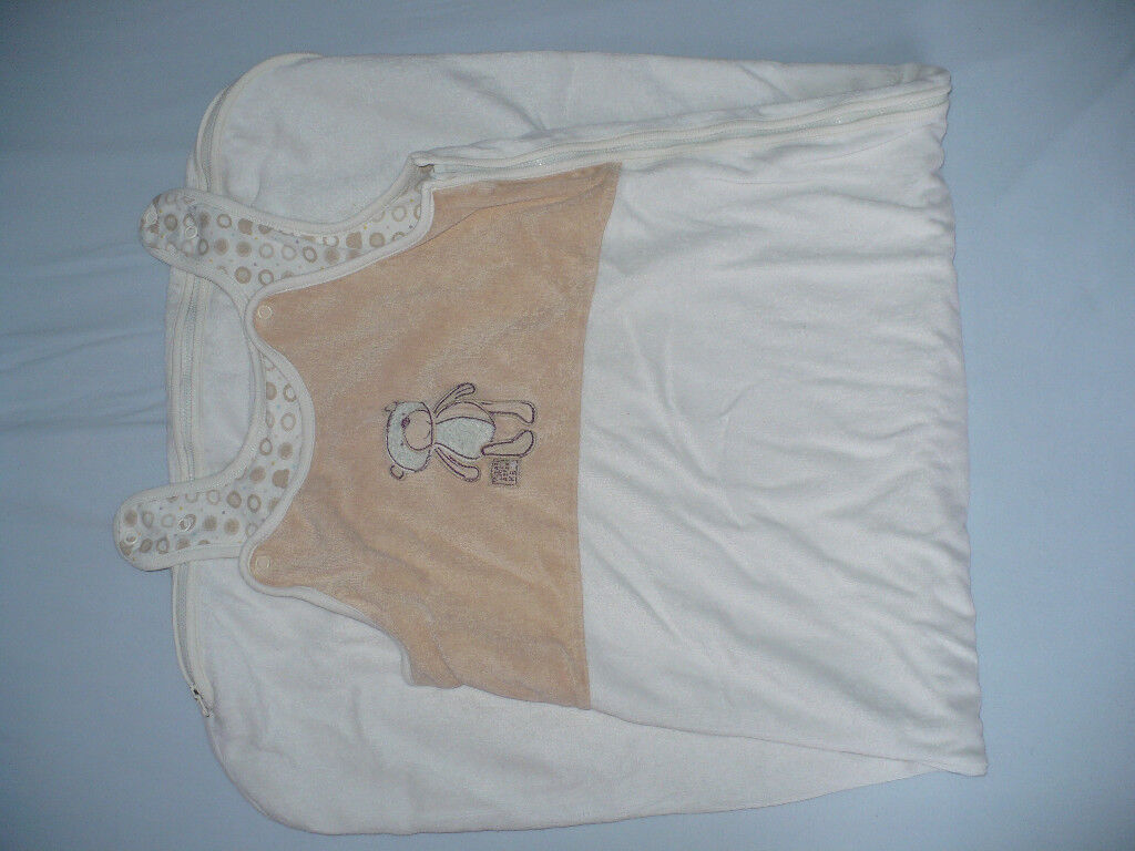 3x Grobag from Mothercare, cream colour with Bear; 2x 1.0tog and 1x 2.5tog, 100% cotton.