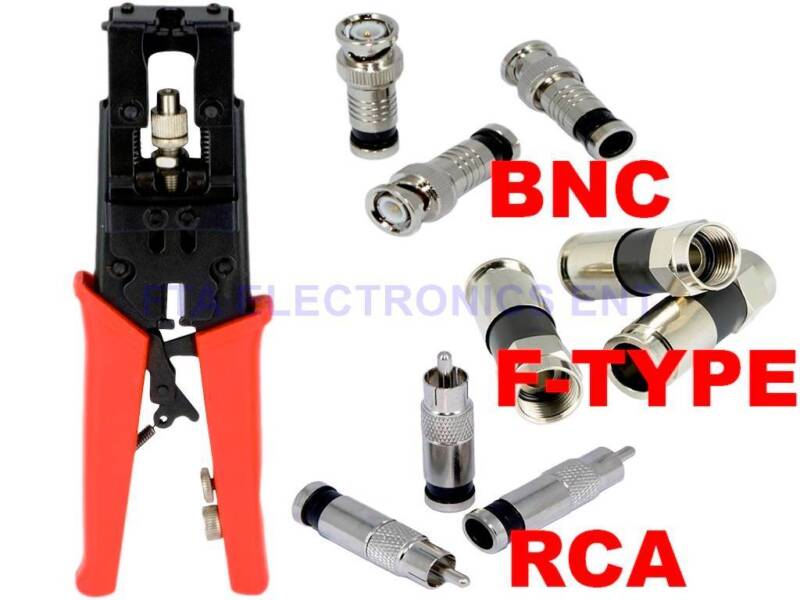 Universal Compression Crimper Tool for Coax RG6 RG59 TV BNC RCA Connectors Plugs