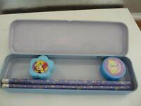 Vintage Disney Winnie the Pooh School Pencil Case / Tin Set