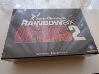 Tom Clancy's Rainbow Six Vegas 2 Official Poker Set NEW Unopened