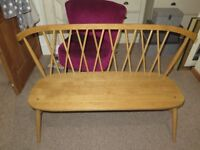 ercol for John Lewis Chiltern Dining Bench, solid oak, finished in a matt finish