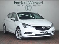 VAUXHALL ASTRA 1.4t 16v 150 Elite 5dr [Apple CarPlay, Android Auto] (white) 2017
