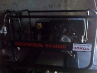 (REDUCED) 3.6KW CONSTANT OP,GENUINE HONDA GENERATOR WITH LOW OIL AUTOMATIC SHUTDOWN