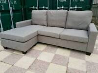 NEW Light Grey Reversible Chaise Corner Sofa DELIVERY AVAILABLE