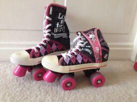 Girls monster high roller skates size 5