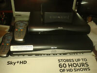 Sky+HD 500 gb recorder plus smaller Sky receiver only (for a different room) and the Router