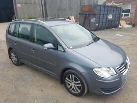 2007 VOLKSWAGEN TOURAN 1.9 TDI 105 BHP 5 DOOR HATCHBACK GREY 7 SEATER