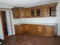 HandMade, solid wood kitchen, perfect for rental property or upcyle/ spray