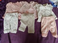 Baby girls clothes tiny baby