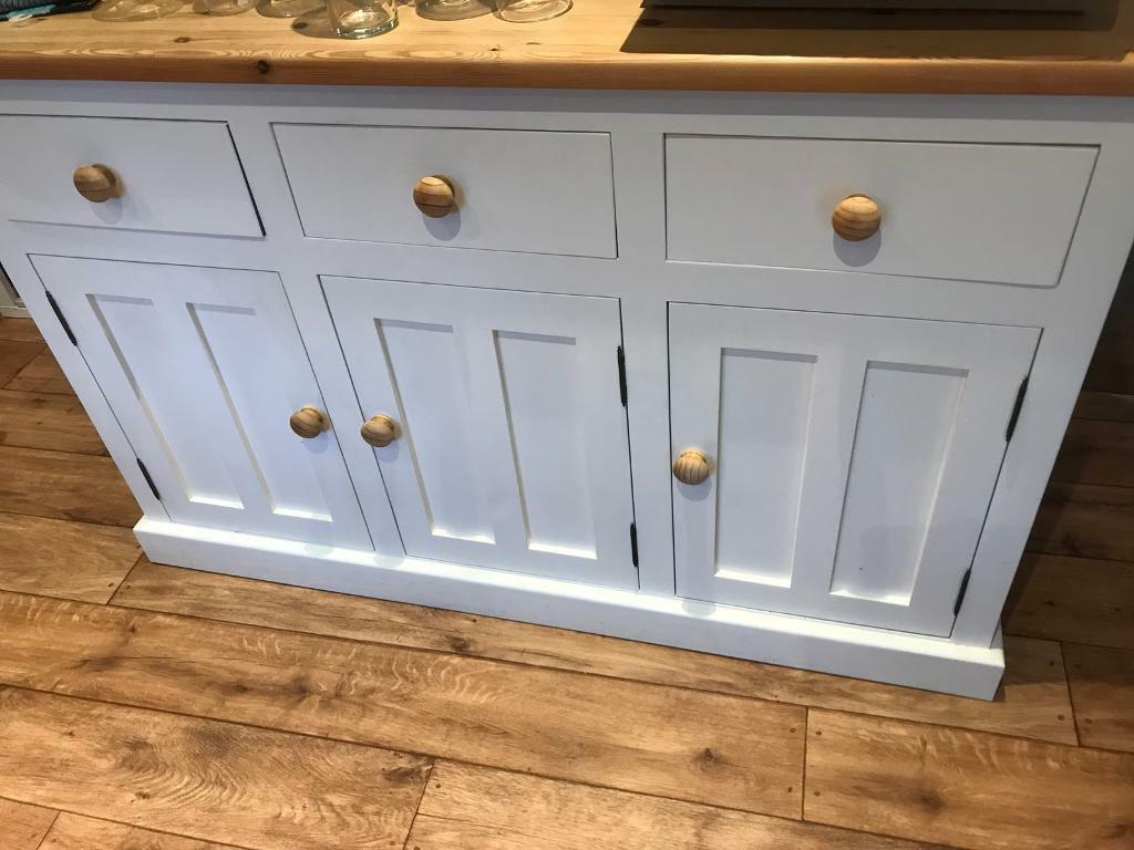 Old creamery shabby chic sideboard /cupboard