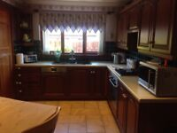 Solid Acacia wood Kitchen in good condition.