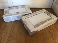 B&Q HAMPTON RIPPLE TEXTURED CERAMIC WALL TILES WHITE x2 BOXES = x20 TILES DIY BUILDING ROMFORD RM5
