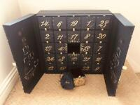Harrods Beauty Advent Calendar 2020 Empty Box with all Pouches/Small Bags