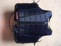 Racesafe RS2010 body protector back protector Childs XL navy short back